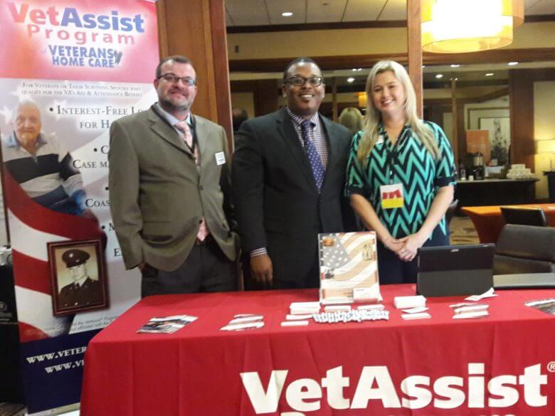 Veterans Home Care managers at a conference of home care agency professionals.