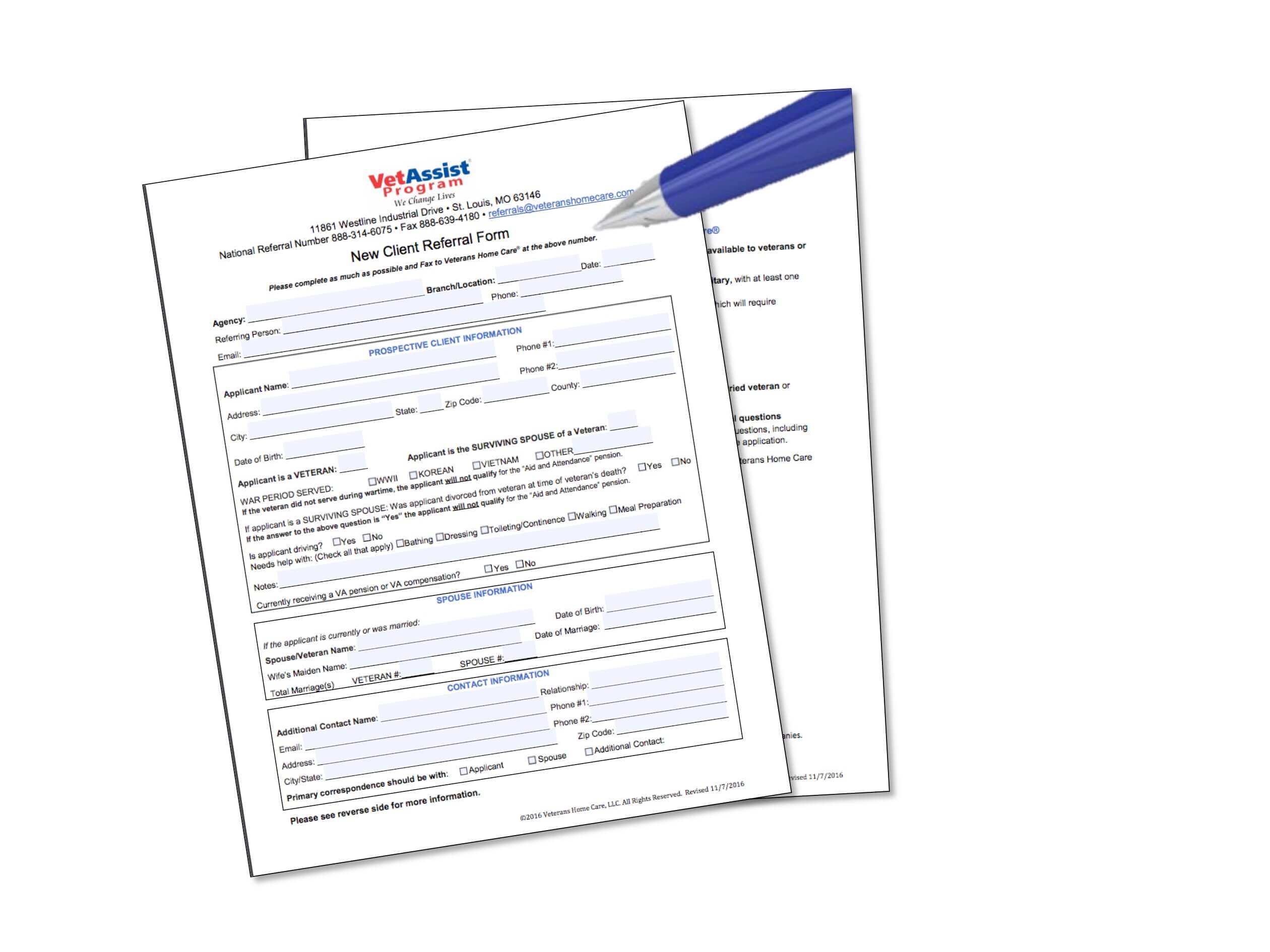 Referral Form - For Agencies - Veterans Home Care - VA Aid and ...